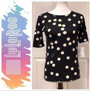 Lularoe Black Polka Dot Gigi Short Sleeve Top